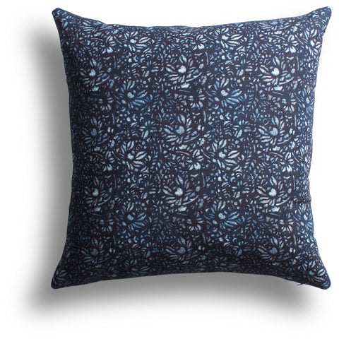 Chrysanthemum Pillow in Night, 20 x 20 in