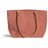 Small Distressed Mercantile Tote in Peony Pink