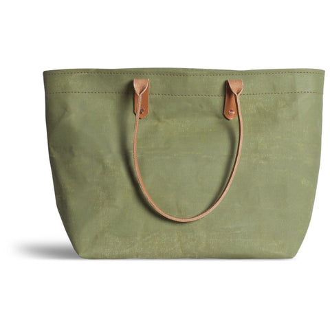 Large Distressed Mercantile Tote in Kaffir Green