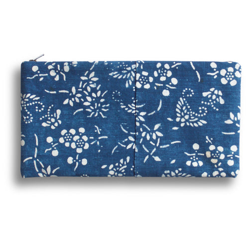Vintage Indigo Double Happiness Pouch
