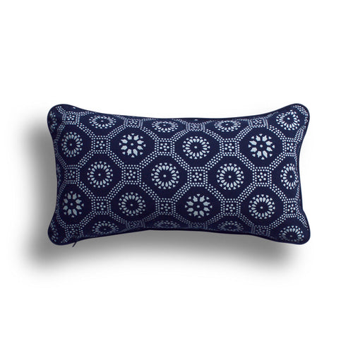 Indigo Honeycomb Pillow, 10 x 17 in