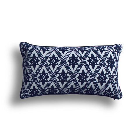 Indigo On the Fence Pillow, 10 x 17 in