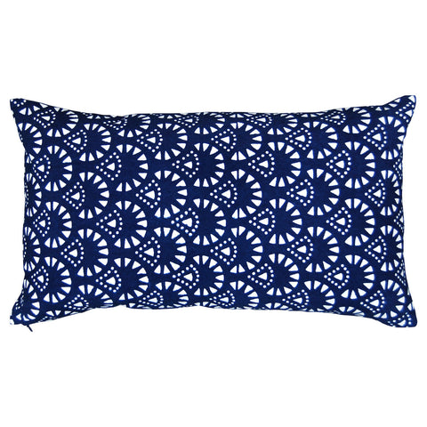 Indigo Snow Cone Pillow, 13 x 22 in