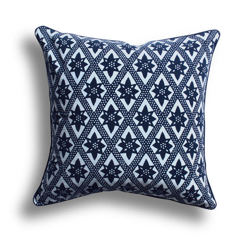 Indigo On the Fence Pillow, 16 x 16 in