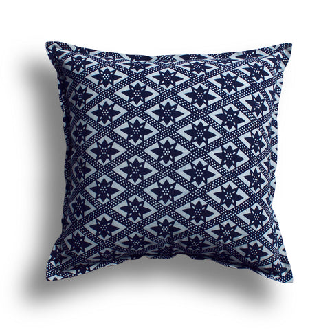 Indigo On the Fence Pillow, 22 x 22 in