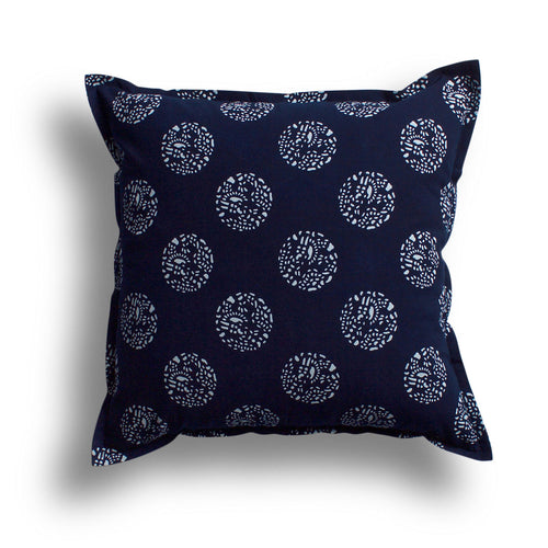 Indigo Dot Dot Dot Pillow, 22 x 22 in