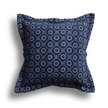 Load image into Gallery viewer, Indigo Honeycomb Pillow, 24 x 24 in