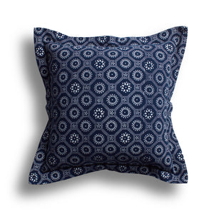 Indigo Honeycomb Pillow, 24 x 24 in