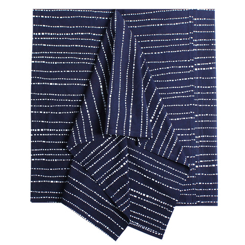 Indigo Babyteeth Tablecloth, 52 x 52 in