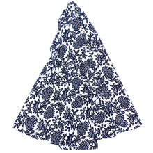 Load image into Gallery viewer, Indigo Flower Tablecloth, 79 in Round