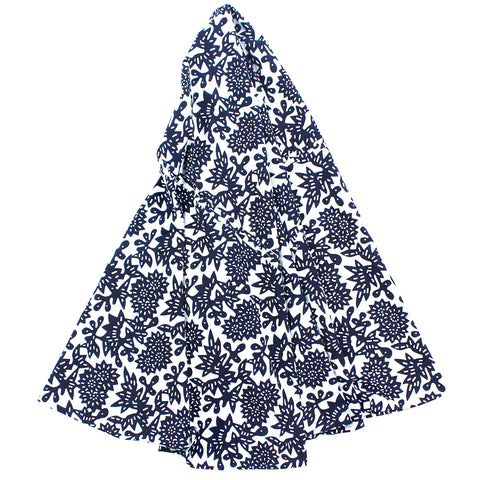 Indigo Flower Tablecloth, 79 in Round