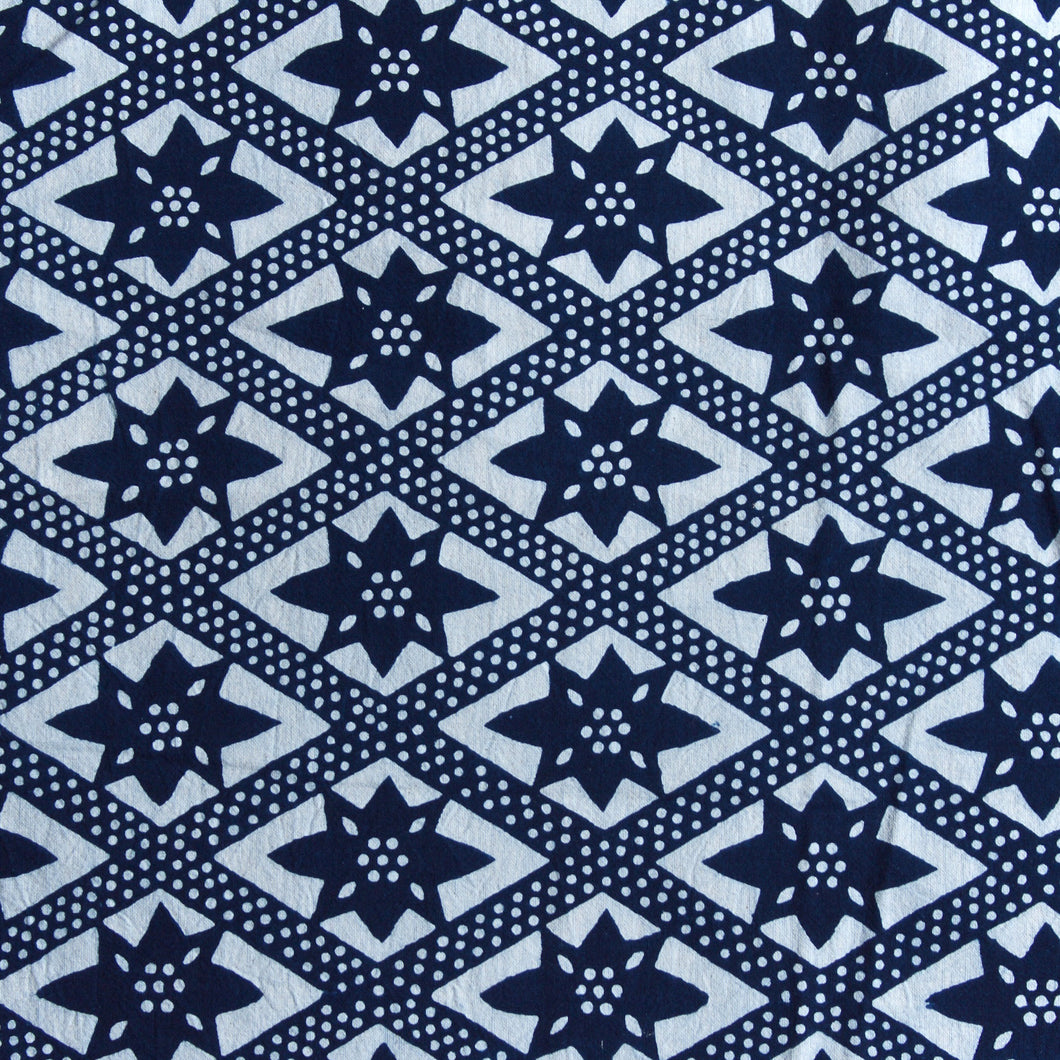 On the Fence Fabric - Indigo