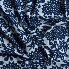 Load image into Gallery viewer, Flower Fabric - Indigo