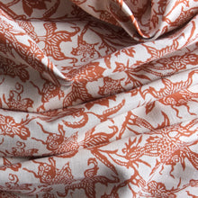 Load image into Gallery viewer, Prussian Carp Fabric - Paprika