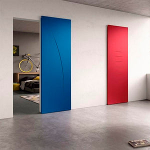 Magic 2 - Wall Mount Concealed Sliding System for Wood Doors. Made in Italy.