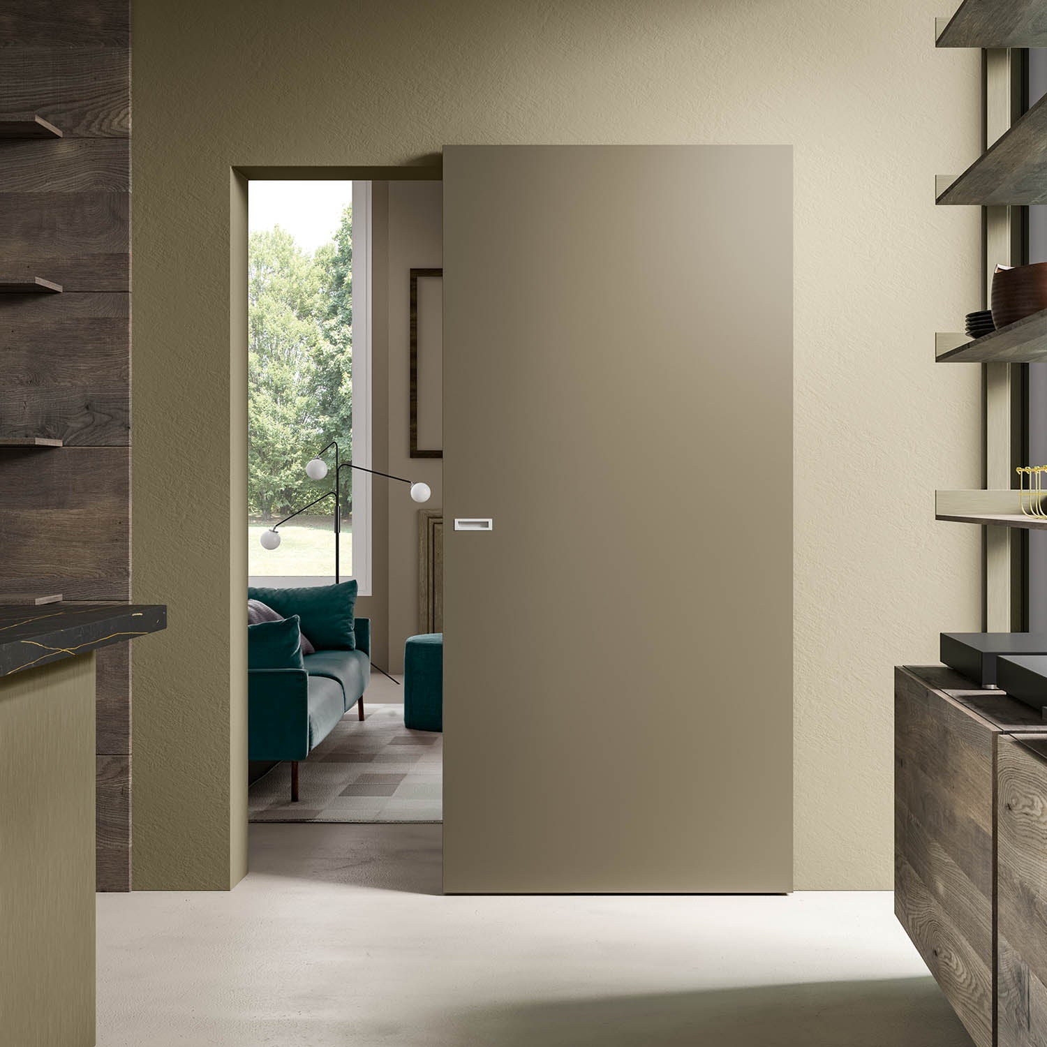 Magic 2 Wall Mount Concealed Sliding System For Wood Doors Made In Milcasa Store