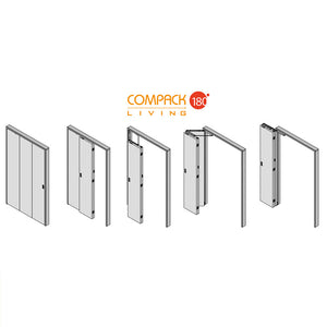 Compack 180 - Tri-Fold Door Hardware Set