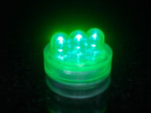 Waterproof Witchs Brew (Green) 3-LED Coloured Lights
