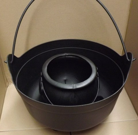 Large Black Plastic Witch's Brew Cauldron