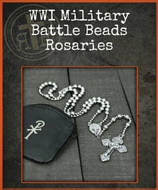 WWI Military Battle Beads Rosary $29.99