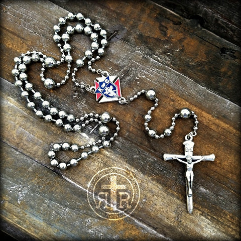 Knights of Columbus Rosary in Silver