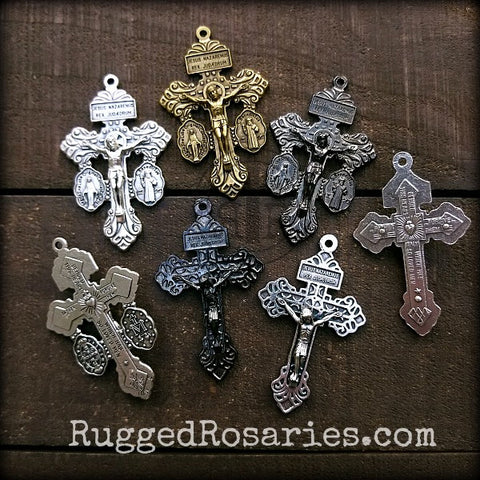Pardon Crucifixes from Rugged Rosaries dot com