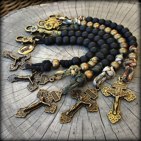 Clip-on Soldier Pocket Rosary with St. Michael