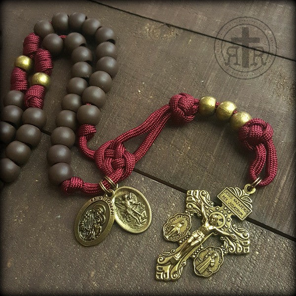 z- Custom Burgundy Rosary for Kelly K
