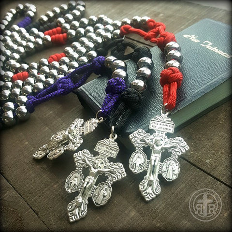 Triple Threat Rosary™ - Silver