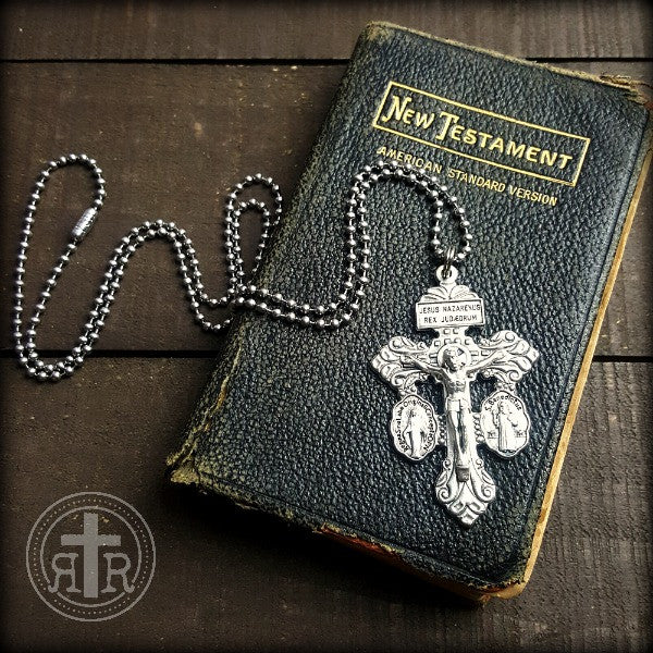 Triple Threat Crucifix Pendant