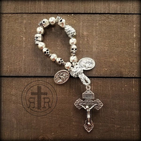 z- Custom Pocket Skull Rosary for Scott
