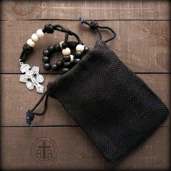 Black Drawstring Carry Pouch