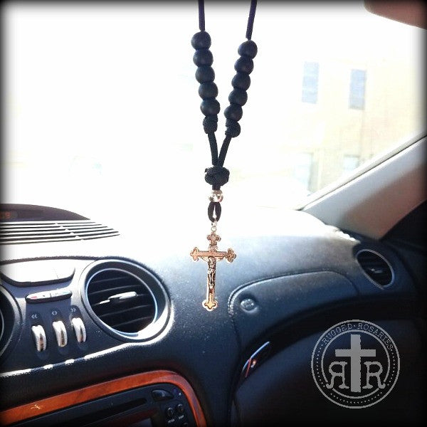 Catholic Auto Rosary or Necklace