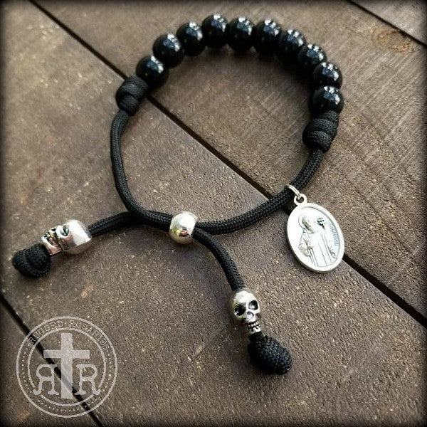 Paracord saint bracelet rugged rosaries for Paracord wallpaper