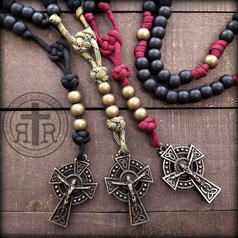 Glendalough Celtic Rosary - Bronze