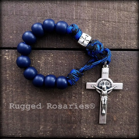 Blue Decade St. Benedict Rosary