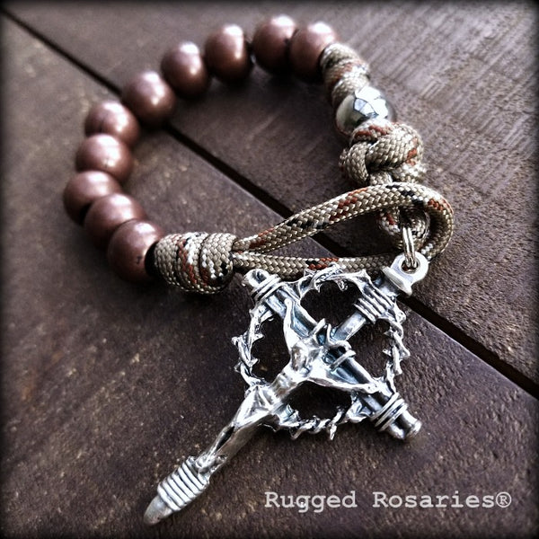 Copper Rattlesnake Pocket Rosary