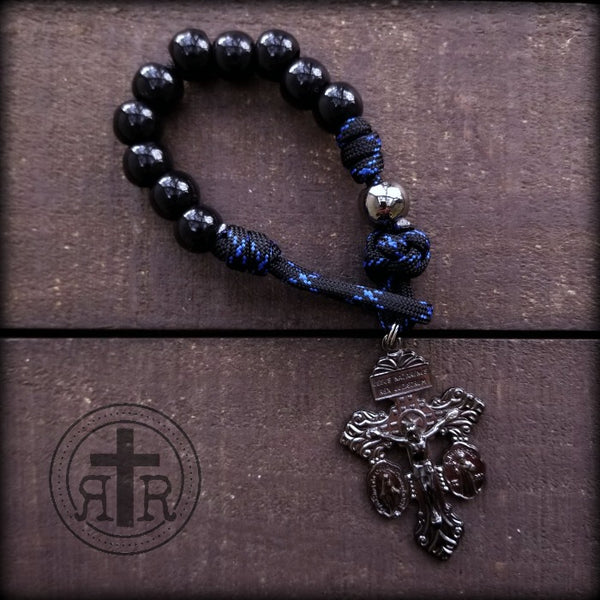 Thin Blue Line Pocket Rosary