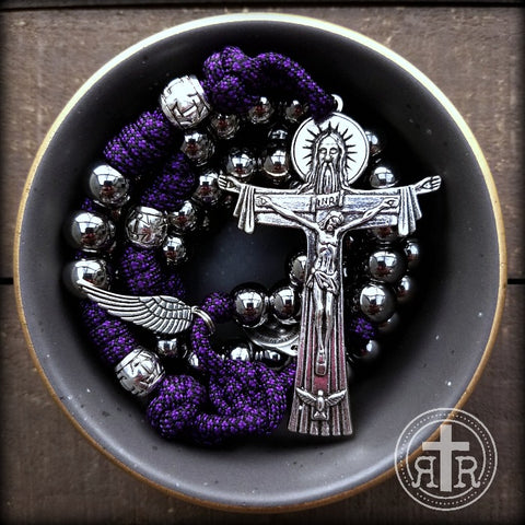Deus Vult! - Paracord Rosary with Angel Wing