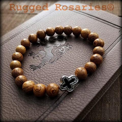 wood devotional bracelet