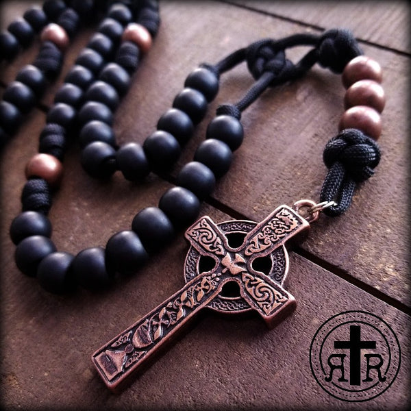 Copper Belfast Paracord Rosary