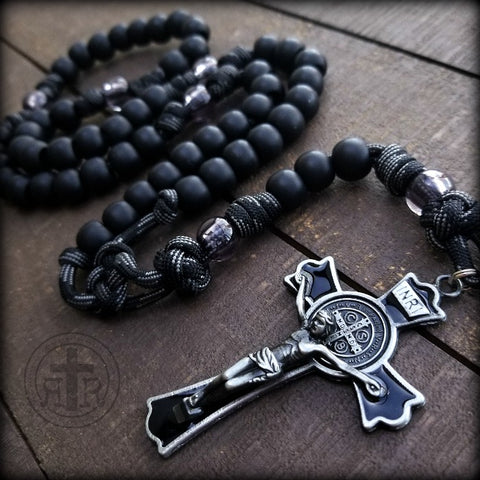 BULK Black Monk Rosaries