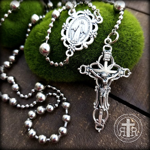 Floral Catholic Rosary