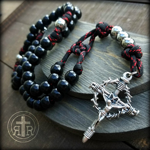 Men in Black Paracord Rosary