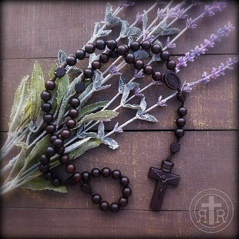 Cross Bead Wooden Rosary