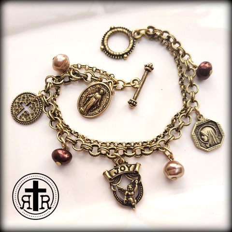 Lady of Grace Medal Charm Bracelet