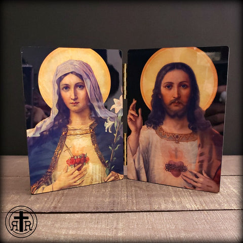 Immaculate Heart on Wood