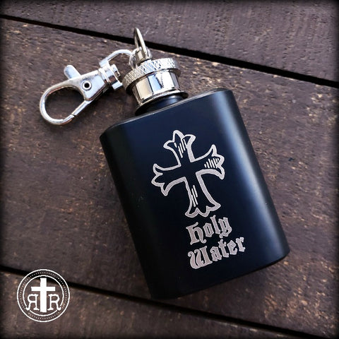 Holy Water Flask in BLACK