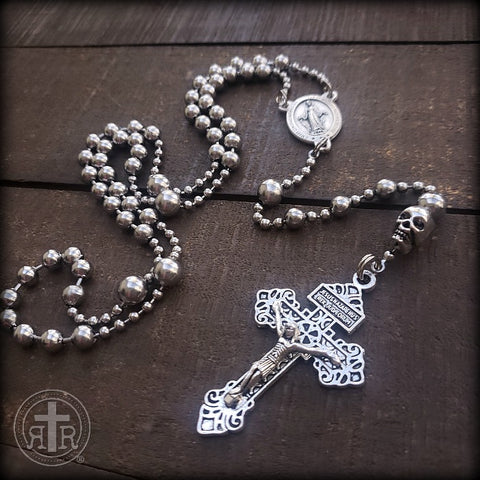 WWI Battle Beads® Memento Mori with Pardon Crucifix
