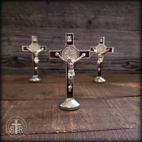St. Benedict Tabletop Crucifixes - Magnetic